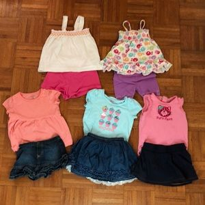 Lot of 5 Toddler Girl Outfits